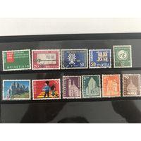 Лот марок Щвейцарии. Много дорогих марок. Все на фото!  С 1 руб!