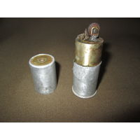"""С 1 рубля!Зажигалка бензиновая из гильзы от ракетницы Вермахта Клеймо """"SKN"""",окопное творчество."""