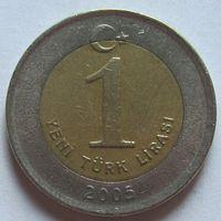 Турция, 1 лира 2005 г