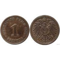YS: Германия, Рейх, 1 пфенниг 1898A, KM# 10 (2)