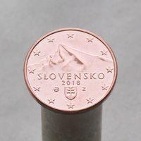 Словакия 5 евроцентов 2018
