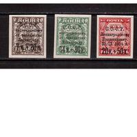 СССР-1924 (Заг.64,66,67) * (сл.от накл.), Благотворительный выпуск(помощь Ленинграду)