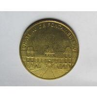 Медаль сувенирная Замок Фонтенбло Франция