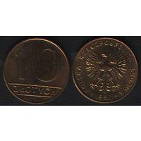 Польша y152.2 10 злотых 1990 год (mw) (h02)