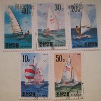 Марки Северная Корея (КНДР). Корабли. Яхты