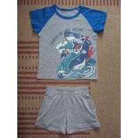 Майка и шорты для мальчика, рост 98-104