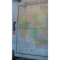 Аукцион всего три дня!!! Карта Черниговской области, СССР,1974г, С РУБЛЯ