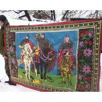 Большой Ковёр малеванка.Нарисован красками на ткани.Советский период.СОСТОЯНИЕ НОВОГО