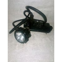 Фонарь шахтёрский с кабелем и крышкой от аккумулятора СГД 5-1 коногонка