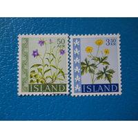 Исландия. 1962 г. Мi-360-361. Цветы.