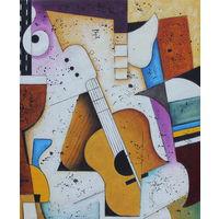Картина маслом 140 гитара 50х60