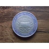 Греция 2 евро 2007   50 лет подписания Римского договора