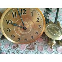 Механизм к напольным часам.GB.Полный комплект.Маятник,гири,цепи,подвес.