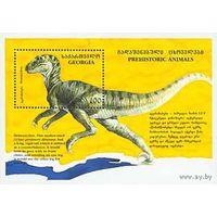 Грузия 1995 фауна Доисторические животные. Динозавры. М Block3 (124)