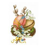 Набор для вышивки крестом  Пасхальные яйца 15 х 23 см Luca-S / В102