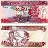 Соломоновы острова  10 долларов 2009 год  UNC