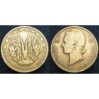W: Западная Африка 25 франков 1956 (746)