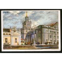 1958 БРЕСТ, Здание ж/д вокзала (тираж 20 тыс., Минск Полиграфкомбинат)
