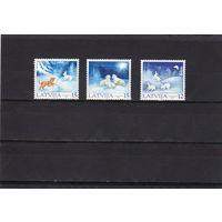 2001 Латвия 559-561 Рождество серия **