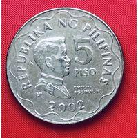 17-19 Филиппины, 5 писо 2002 г.