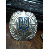 Кокарда на фуражку. Полиция. Украина.
