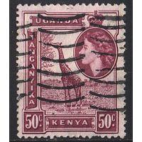 1954 - Кения - Уганда - Танганьика - Жираф 50 Mi.98