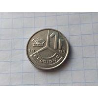 Бельгия 1 франк, 1991  ( Надпись на французском - 'BELGIQUE' )