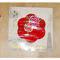 Маленький сувенирный китайский платочек 14х14см в упаковке