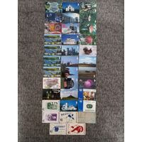 35 разных телефонных карт Беларуси Лот 3