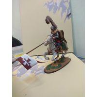 Солдатик оловянный(военно-истоическая миниатюра) конный крылатый гусар