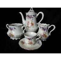 Набор (сервиз) для кофе, чая. Старинный. Германия, мануфактуры Carl Tielsch & Co