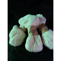 Нитки-пряжа для вязания 3 мотка одним лотом  белые