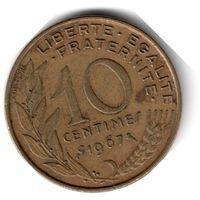 Франция. 10 сантимов. 1967 г.