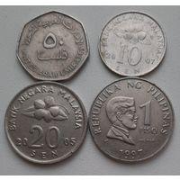 АЗИЯ: 4 монеты_Отличные_Много лотов в продаже