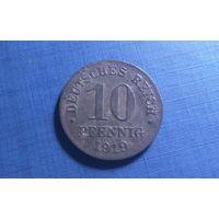 10 пфеннигов 1919. Германия.