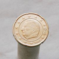 Бельгия 20 евроцентов 2002 (1-ый тип)
