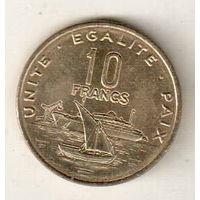 Джибути 10 франк 2013