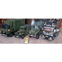 Коллекция грузовиков ручной работы(КРАЗ,МАЗ,УРАЛ,ЗИС- 5,Мерседес)