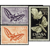 Испанская сахара Испания 1964 (Mi 256-258) ФАУНА АФРИКИ : Бабочки MNH**