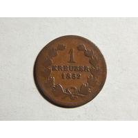 Баден 1 крейцер 1852г