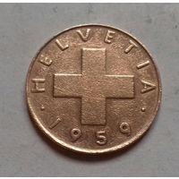 1 раппен, Швейцария 1959 г.