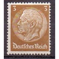 Германия Стандарт Гинденбург 3 pf (**) 1934 г