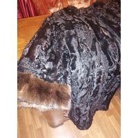 Элегантная меховая куртка.натуральный каракуль с норкой. .3\4 рукав.длуна70см, ПОГ 50см
