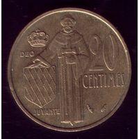 20 сантимов 1979 год Монако Тираж 25 тысяч.