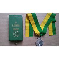 """Швеция. Густав V. Медаль """"За долгую верную службу"""""""