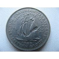 Восточные Карибы 25 центов 1965 г.