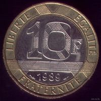 10 Франков 1989 год Франция