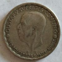 Швеция 1 крона 1946 серебро