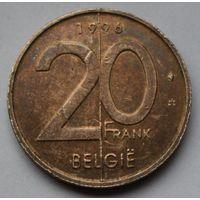 Бельгия 20 франков, 1996 г. 'BELGIE'