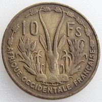 Французская Западная Африка, 10 франков 1956 года, KM#6